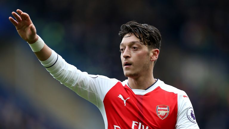Mesut Ozil's place in Arsenal's starting line-up has been questioned