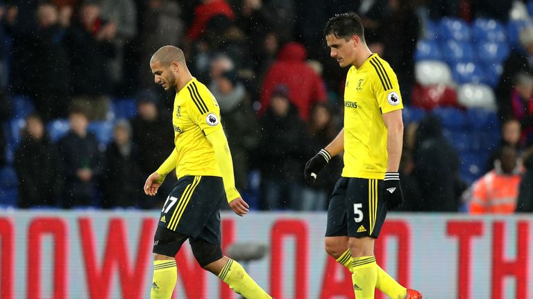Middlesbrough remain just above the drop zone after the defeat