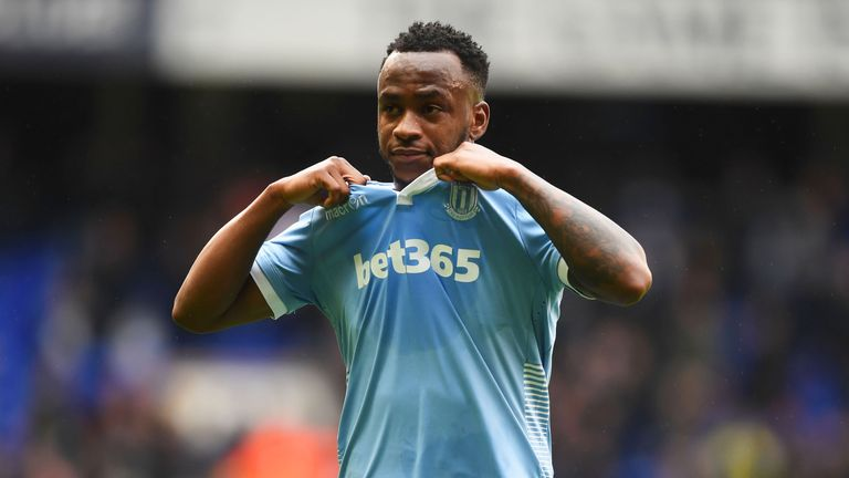 Saido Berahino has not scored in 10 games since joining Stoke from West Brom