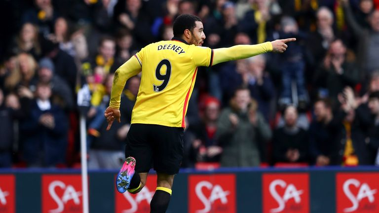 Troy Deeney has scored three goals in his last three league games
