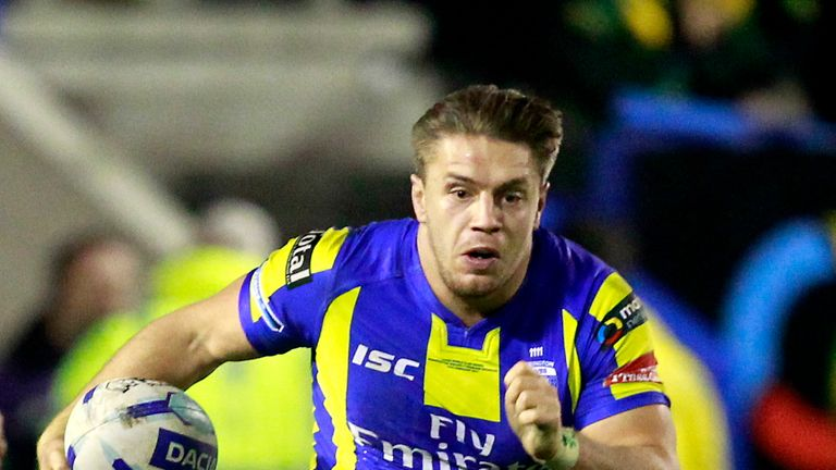 Matty Russell's late try ensured Warrington overcame  Championship side Halifax