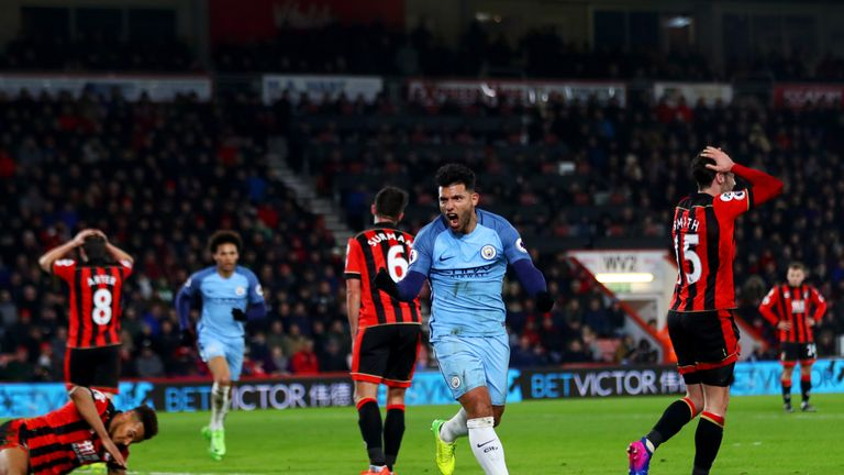 Image result for aguero goal bournemouth