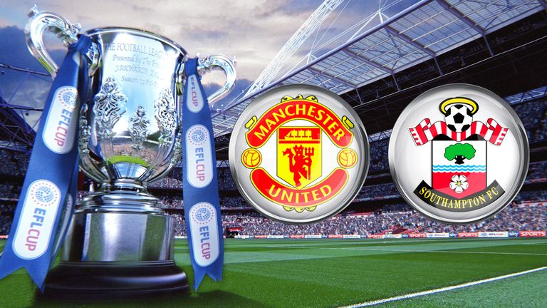 Manchester United and Southampton meet at Wembley for the EFL Cup final on Sunday