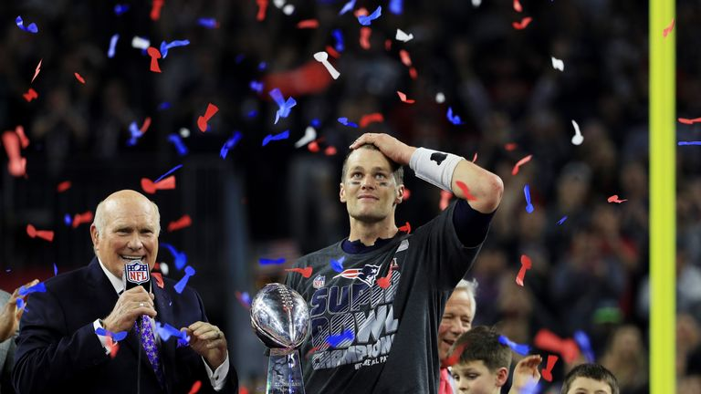 Tom Brady and the New England Patriots won a fifth Super Bowl last season
