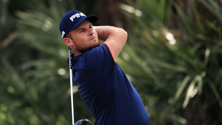 Tyrrell Hatton posted a 66 to earn a place in Sunday's final pairing