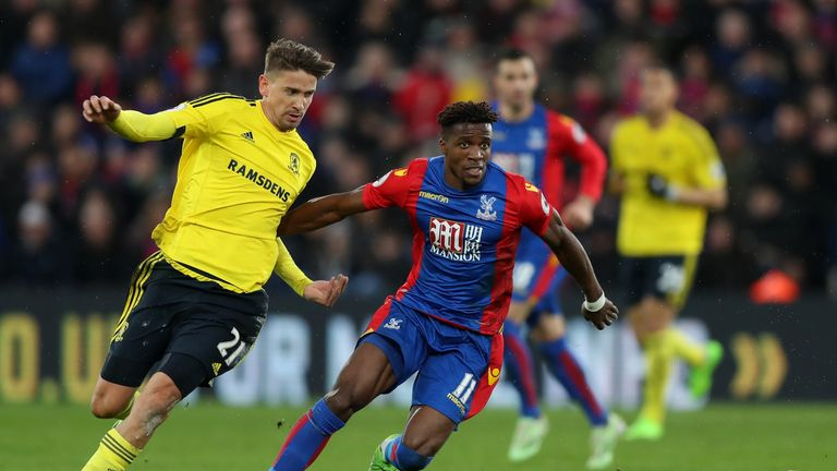 Wilfried Zaha put in a fine performance for Crystal Palace on Saturday