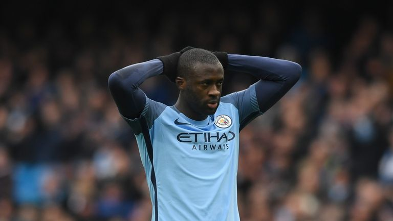 Yaya Toure's Manchester City contract expires at the end of the season