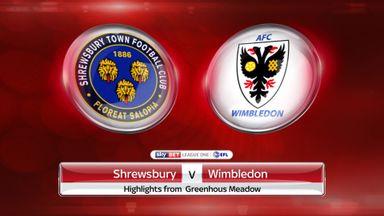 Shrewsbury 2-1 AFC Wimbledon