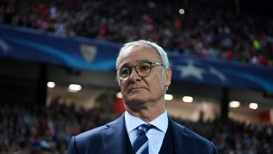 SEVILLE, SPAIN - FEBRUARY 22:  Claudio Ranieri, manager of Leicester City looks on before the UEFA Champions League Round of 16 first leg match between Sev