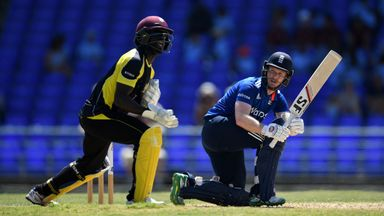England captain Eoin Morgan hit 95 in their opening warm-up win in the West Indies
