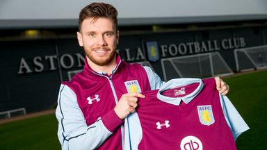 New Aston Villa signing Scott Hogan at the club