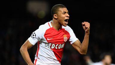 Kylian Mbappe of AS Monaco celebrates