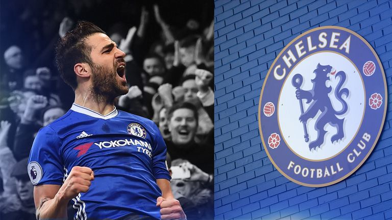 Cesc Fabregas scored one and set up another in Chelsea's 3-1 win over Swansea at Stamford Bridge in February 2017