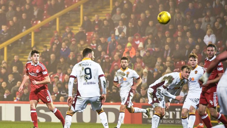 Ryan Christie put Aberdeen 4-0 up shortly before half-time