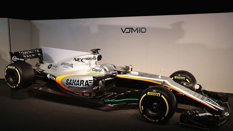 Force India unveil their 2017 car, the VJM10, at Silverstone