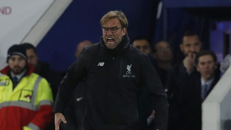 Liverpool's German manager Jurgen Klopp reacts during the English Premier League football match between Leicester City and Liverpool at King Power Stadium