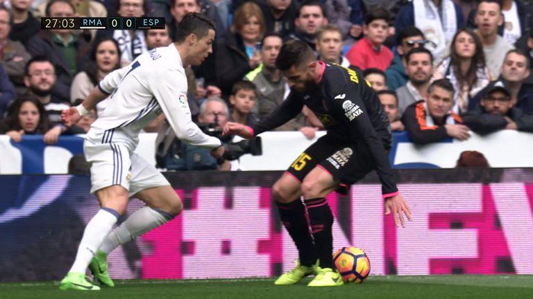 Ronaldo beats David Lopez with an outrageous elastico nutmeg