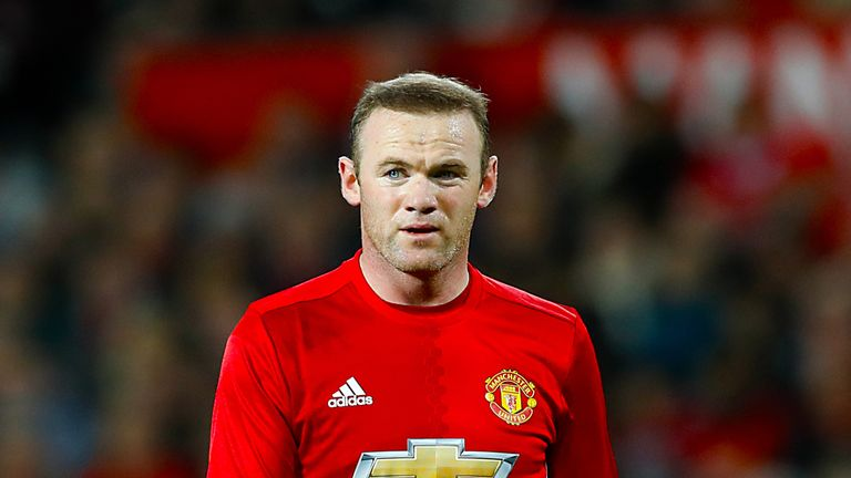 Wayne Rooney in action for Manchester United during the EFL Cup semi-final, first leg at Old Trafford