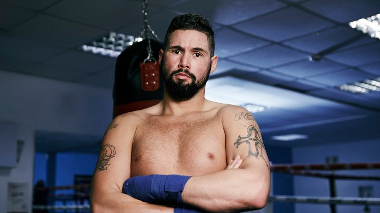 Tony Bellew trains at Dave Coldwell's Gym in Rotherham ahead of his fight against David Haye at the o2 Arena in london on 4th Marhc 2017. 20th February 201