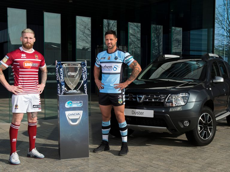 Sam Tomkins (left) and Gerard Beale pictured at the Dacia World Club Series launch
