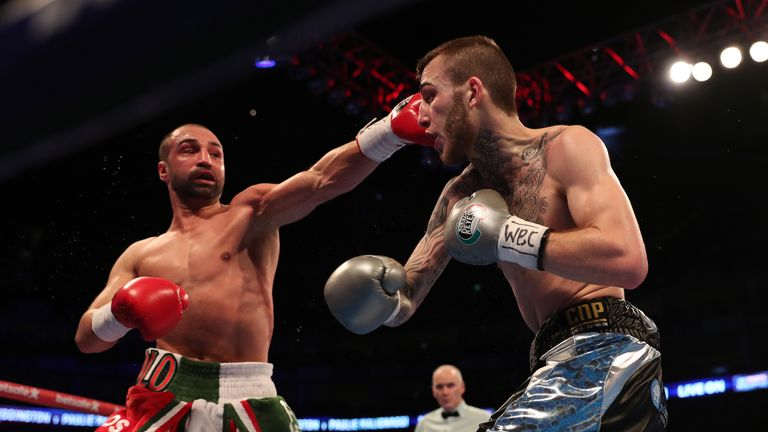Eggington halted Paulie Malignaggi at The O2 in March