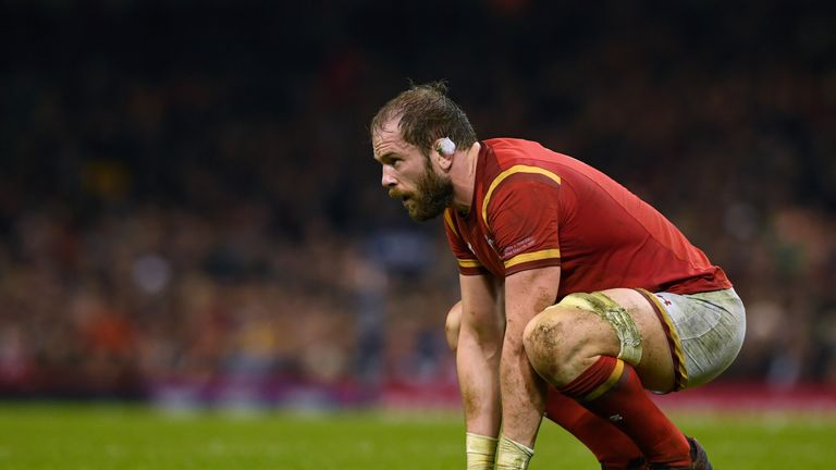 Alun Wyn Jones led Wales to a victory that eases some pressure on them