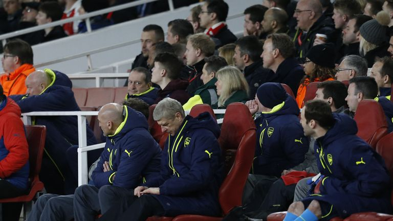 Wenger saw Arsenal concede five against Bayern for a second game in a row