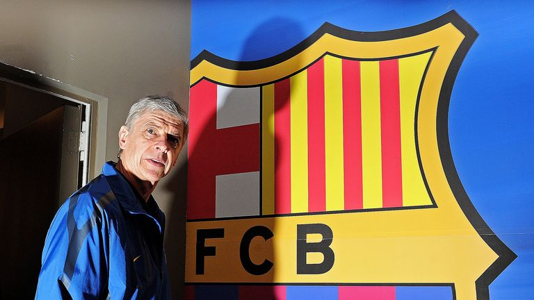 Arsene Wenger insists he's not interested in the Barcelona job