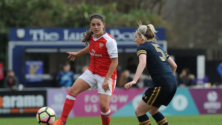 Danielle van de Donk bagged a treble for Arsenal