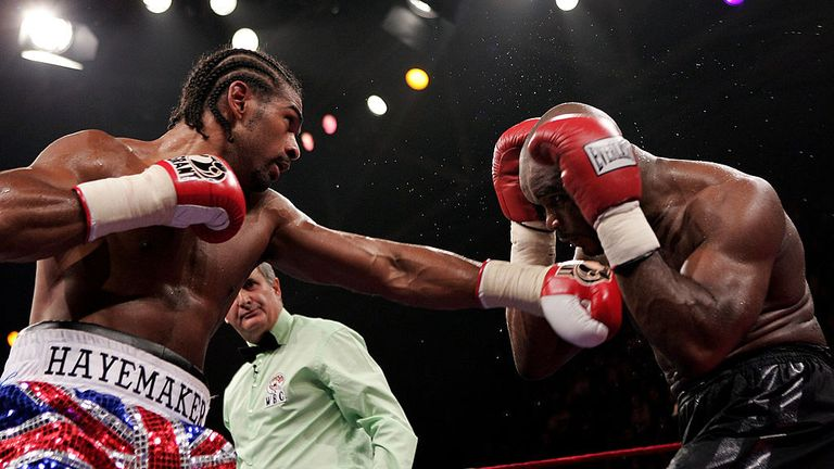 David Haye was down but not out when he faced Jean-Marc Mormeck in Paris