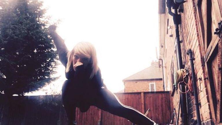 """""""Sunday training in the back yard"""" (Instagram: @eliselikescakes)"""
