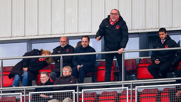 Leyton Orient fans will protest against the club's owner Francesco Becchetti (standing)