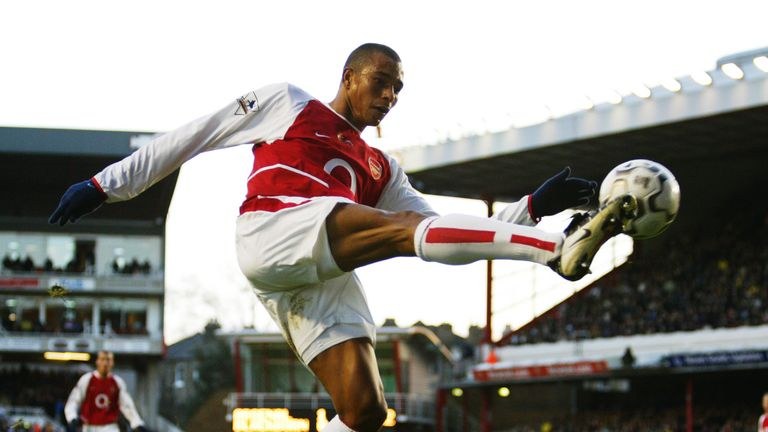Gilberto was part of Arsenal's Invincibles side in 2003/04