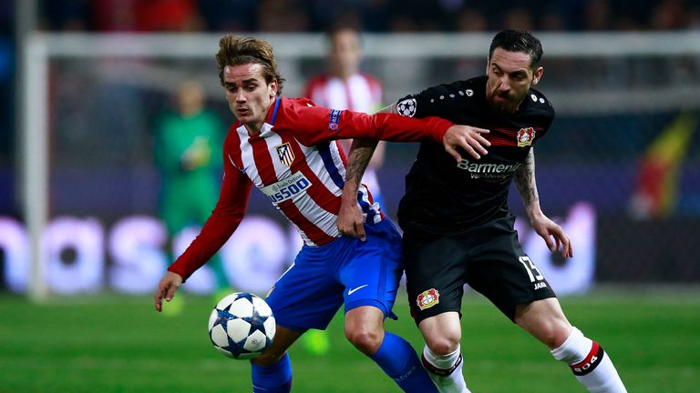 Antoine Griezmann was unable to unlock the Leverkusen defence