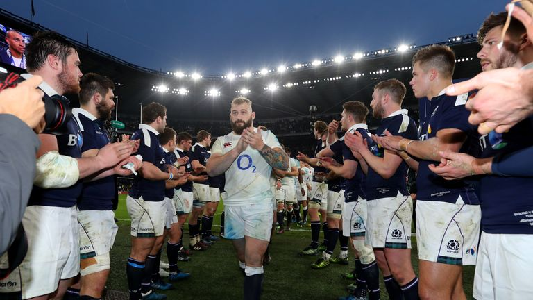 Scotland were left applauding England off the field after a demoralising 61-21 defeat at Twickenham