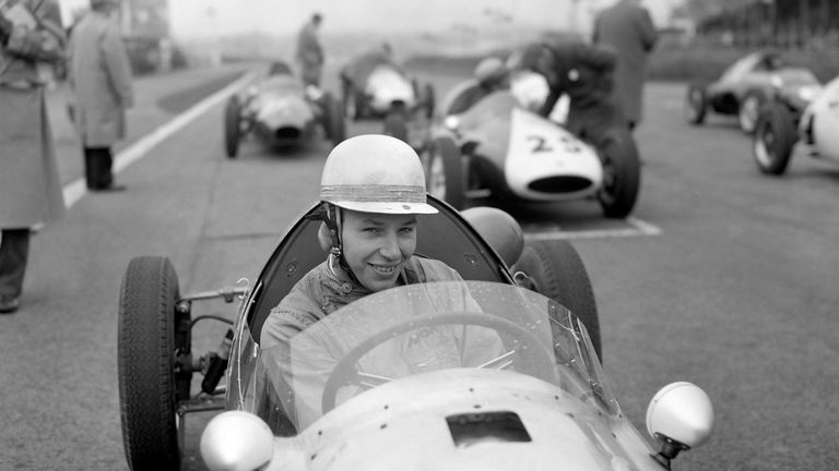 John Surtees pictured at the wheel of a Cooper, 31 March 1960