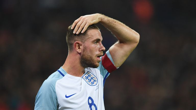 Jordan Henderson has been among the players to captain England under manager Gareth Southgate