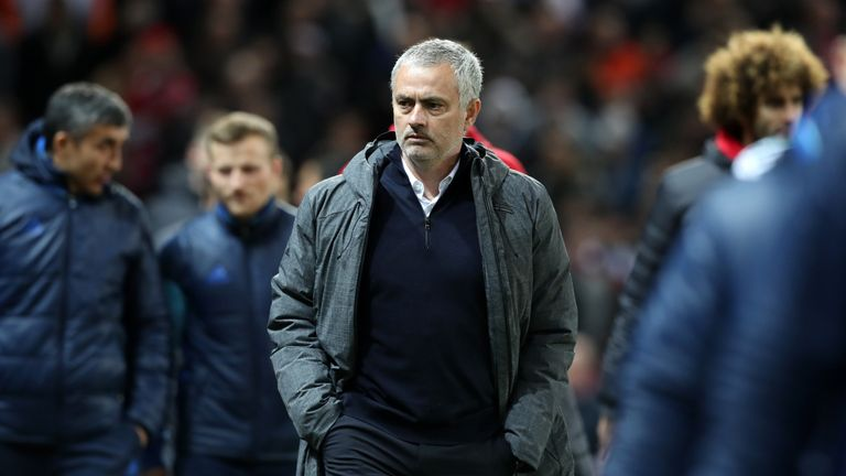 United manager Jose Mourinho at Old Trafford on Thursday