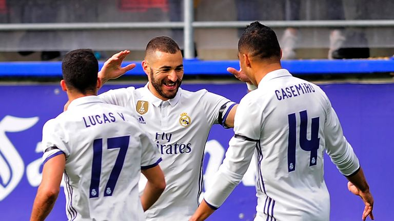 Karim Benzema is expected to see out his Real Madrid contract