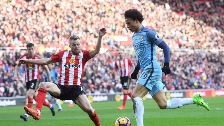 Image result for Sunderland 0-2 Man City