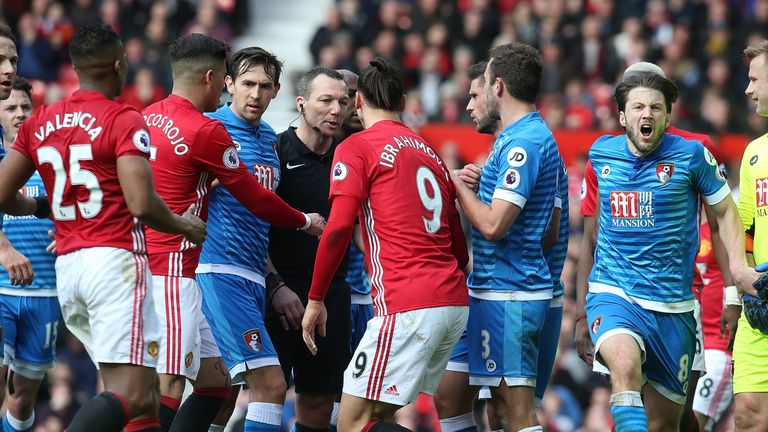 Zlatan Ibrahimovic was involved in an altercation with Tyrone Mings
