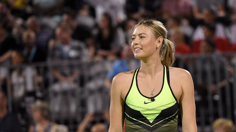 Maria Sharapova returns to competitive action in April