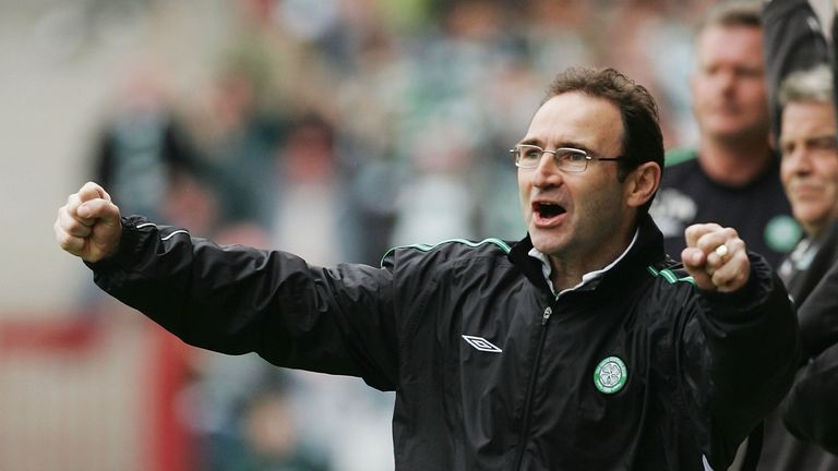 Celtic won the treble under Martin O'Neill and could do so again under Brendan Rodgers this season