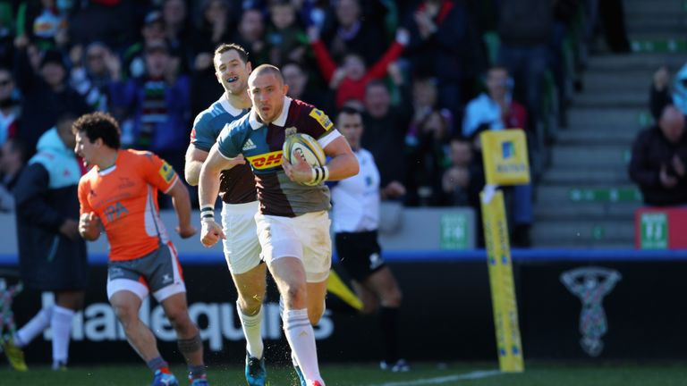 Mike Brown was full of running for Harlequins
