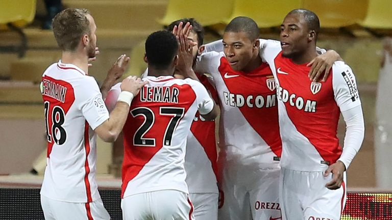 Mbappe scores twice as Monaco beat Nantes to go clear