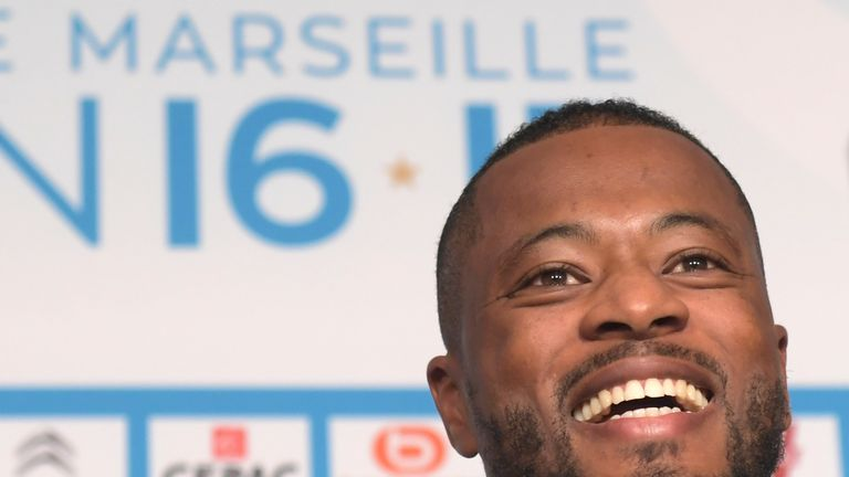Patrice Evra's contract at Marseille expires in July