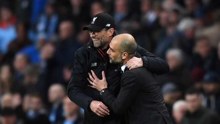 Pep Guardiola described Sunday's thrilling 1-1 draw with Liverpool as 'one of the proudest days of my managerial career'