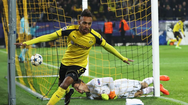 Pierre-Emerick Aubameyang is a transfer target for Manchester City