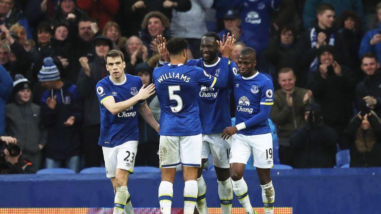 Romelu Lukaku (C) and his Everton team-mates will visit Tanzania during pre-season