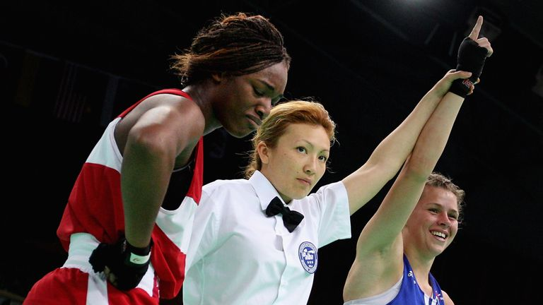 Savannah Marshall beat Claressa Shields in the women's 75kg at the 2012 world championships